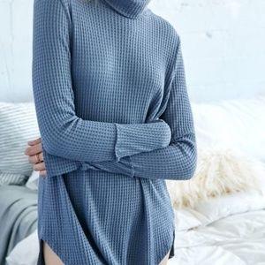 Waffle Knit Turtle Neck Sweater